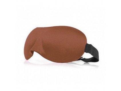 3D Maska na spaní  -  hnědá  Maska 3D hnědá