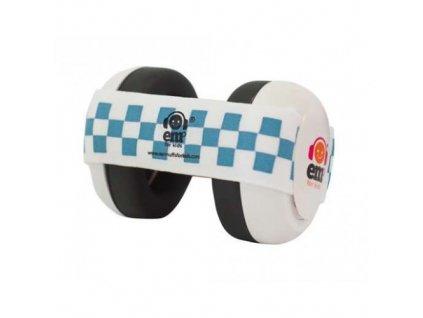 Em's 4 Bubs - chrániče sluchu pro batolata bílá/modrá  Ems bílo - modré