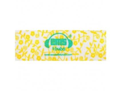 Čelenka k chráničům sluchu pro batolata - žluto/bílá  Ems čelenka žluto-bílá