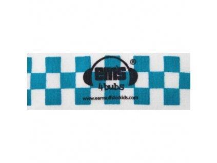 Čelenka k chráničům sluchu pro batolata - modro/bílá  Ems čelenka modro-bílá