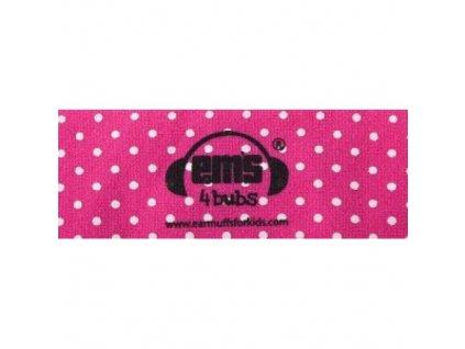 Čelenka k chráničům sluchu pro batolata - růžová  Ems čelenka růžovo-bílá
