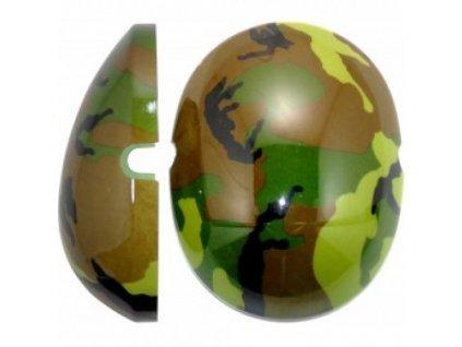 Krytky na dětské chrániče sluchu - maskáčové zelené  Edz Capz Camo zelená