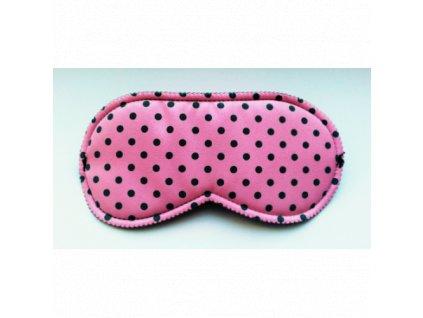 Maska na spaní - škraboška růžová  Škraboška - růžová