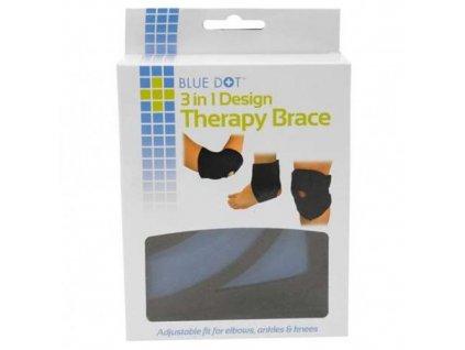 BlueDot - Hřejivá - chladivá ortéza na loket, kotník a koleno.  Blue Dot orteza 3v1