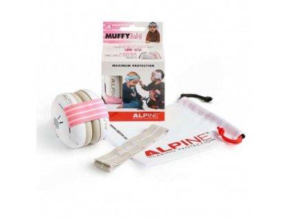 Alpine Muffy Baby chrániče sluchu pro batolata růžové  Alpine Muffy Baby růžová