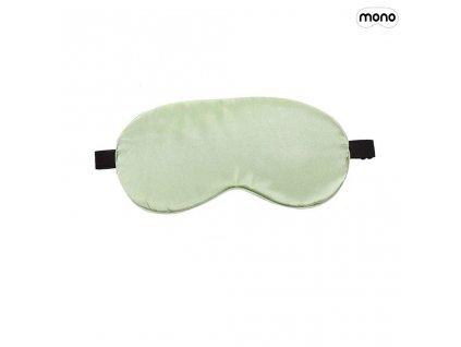 satenova maska na spani na oci svetle zelena