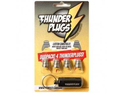 Thunderplugs DuoPack špunty do uší - 2 páry  Thunderplugs DuoPack