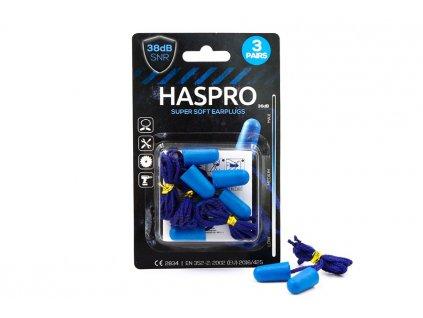 haspro corded 3 páry modre