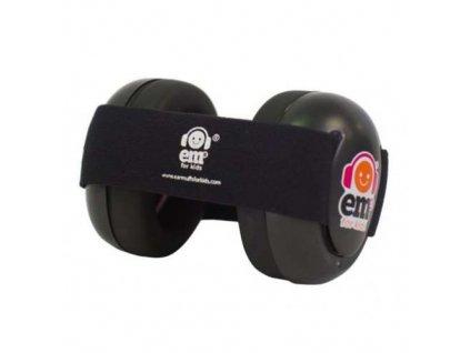 Em's 4 Bubs - chrániče sluchu pro batolata černá - černá  Ems černo - černé