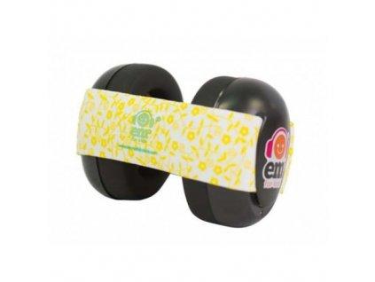 Em's 4 Bubs - chrániče sluchu pro batolata  černá - žlutá/bílá  Ems černo - žluté