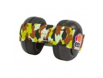 Em's 4 Bubs - chrániče sluchu pro batolata  černá - maskáčová  Ems černo - maskáčové