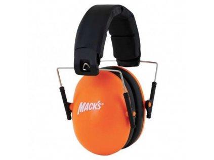 Mack's chrániče sluchu dětské oranžové  Macks sluchátka dětské oranžové