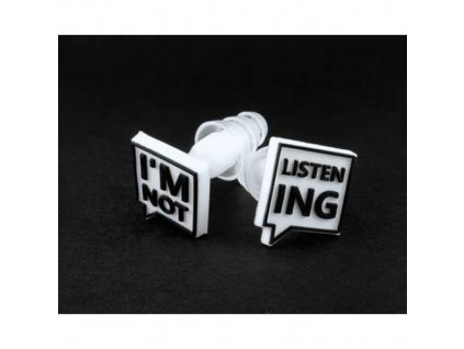 "Laplugs ""I'm not listening""  špunty do uší  I'm not listening špunty"