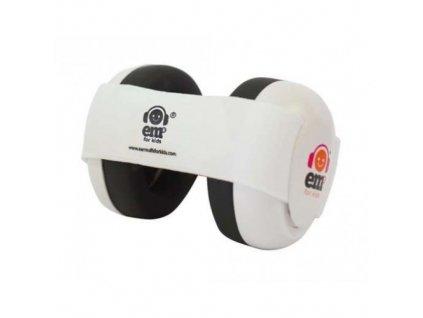 Em's 4 Bubs - chrániče sluchu pro batolata bílá - bílá  Ems bílo - bílé