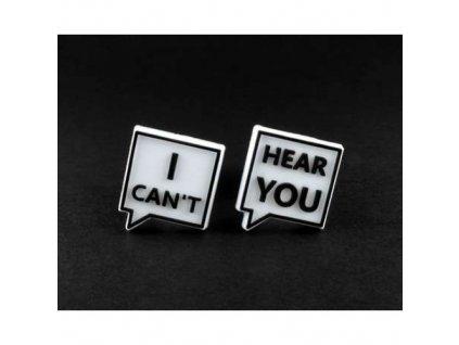 """Náhradní loga ke špuntům do uší """" I can't hear you """"  Laplugs loga I can't hear you"""