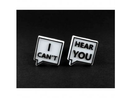 "Náhradní loga ke špuntům do uší "" I can't hear you ""  Laplugs loga I can't hear you"