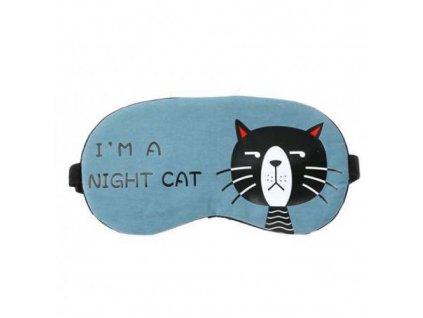 Maska na spaní CAT - modro/šedá  Maska CAT modro-šedá