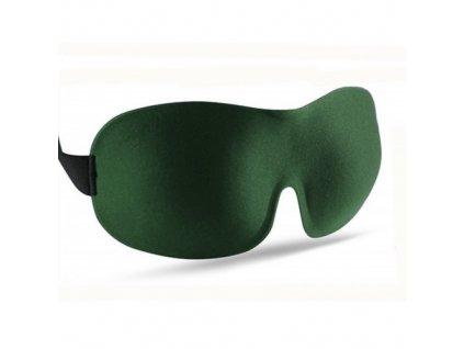 3D Premium Maska na spaní  - zelená  Maska 3D premium zelená