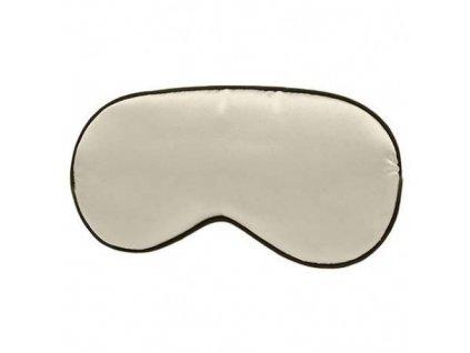 Maska na spaní  hedvábná - Béžová  Maska Silk béžová