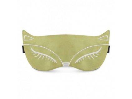Maska na spaní - Pussycat zelená  Maska Pussycat zelená