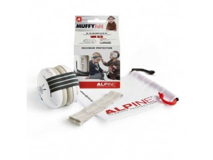Alpine Muffy Baby chrániče sluchu pro batolata černé  Alpine Muffy Baby černá