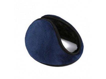 Zimní klapky na uši - modré  Zimní klapky na uši modré