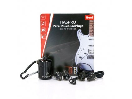 Haspro Pure Music Black špunty do uší pro muzikanty  Haspro Pure Music Black