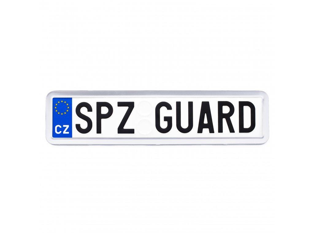 SPZ GUARD A04 bezpečnostní rámeček na registrační značku (RZ) - celonerezový