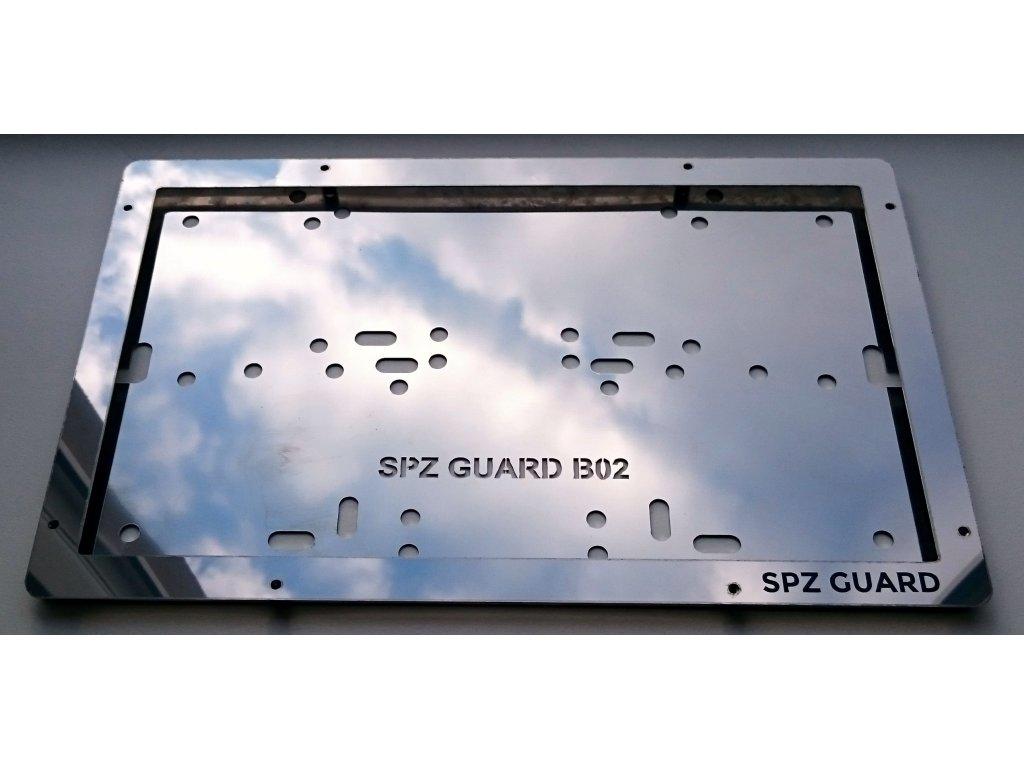 SPZ GUARD B04 celonerezový rámeček na značku 320 x 160 mm - veteráni, USA