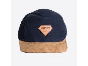 CAP LEATHER BLUE FRONT