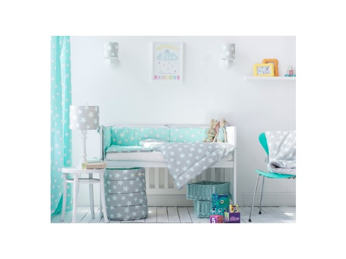 6305 curtains mint stars 7