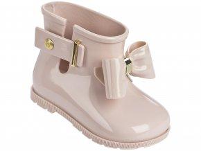 Růžové dětské kotníkové boty Melissa Sugar Rain Bow Light Pink