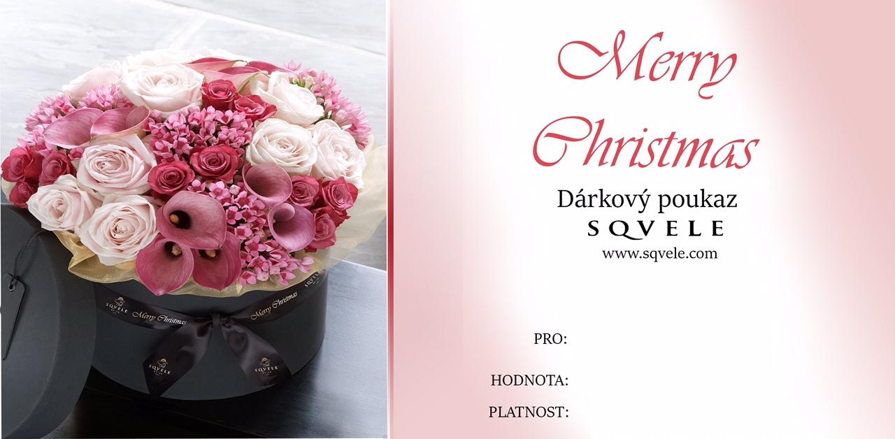 Dárkový poukaz MERRY CHRISTMAS Cena: 1000 Kč