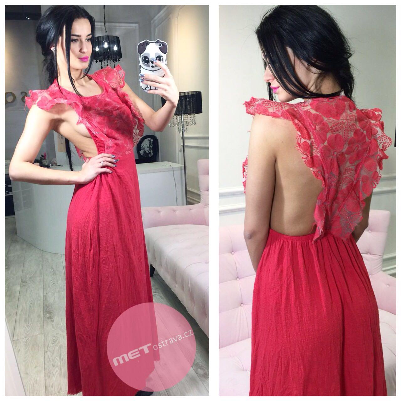 Červené letní šaty VENTURA L Velikost  XS ad7c075f4d