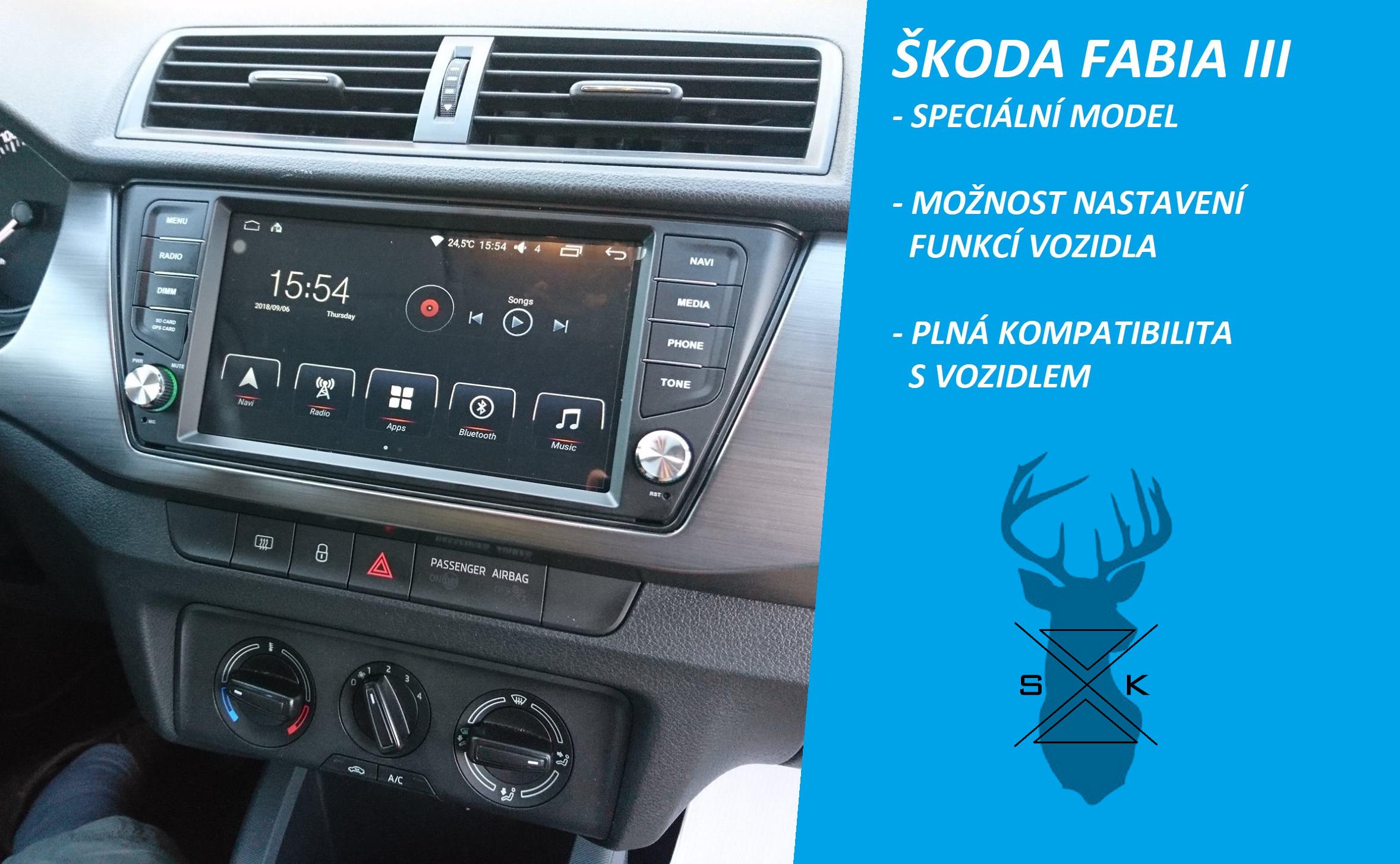 OEM autorádio Škoda Fabia III