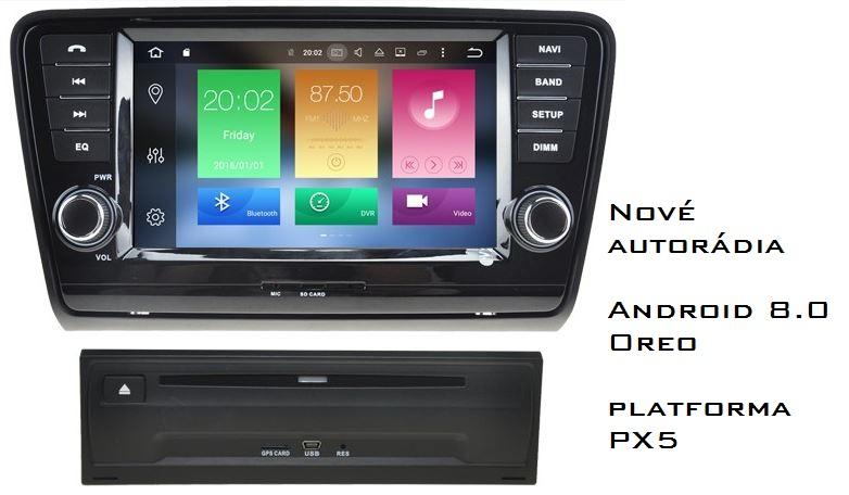 Nové autorádia PX5 Android 8.0 Oreo