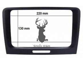 2DIN OEM rámeček škoda superb II s airbag