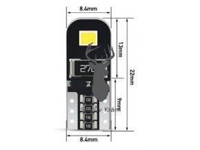 T10 LED žárovka 2835 100 rozměry