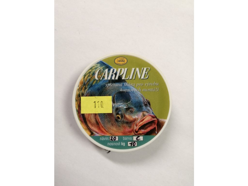 J. TŮMA - CARPLINE návazcová šňůra - 20m / 6kg