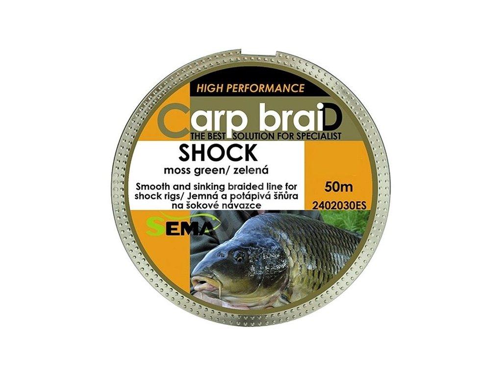 SEMA - Carp Braid SHOCK návazcová šňůra - 50m / 18.2kg