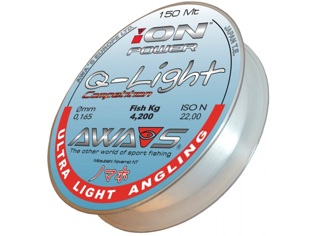 AWA-S - vlasec ION POWER Q-LIGHT COMPETITION - 150m / 0,165mm / 4.2kg