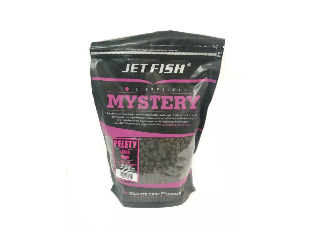 JETFISH - MYSTERY Pelety 8mm - Játra, krab