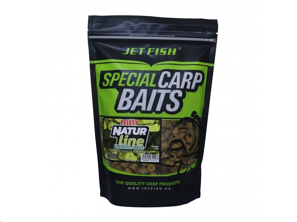 jet fish pelety natur line kukurice 12mm 1kg ie86251