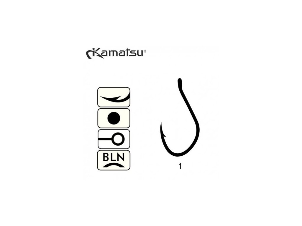 KAMATSU - Háčky DX-AJI - vel. 1 / 5ks
