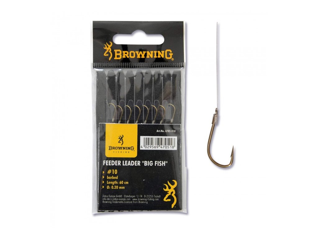 BROWNING - Feederový návazec - vel. 12 / 0,14mm / 60cm