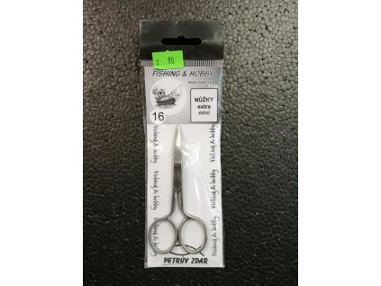 FISHING & HOBBY - Nůžky zahnuté extra mini - 6,5cm
