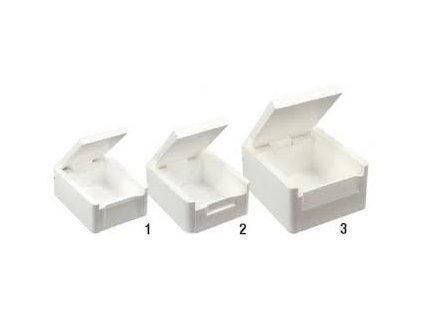 Krabička na červy polystyren - střední / bílá