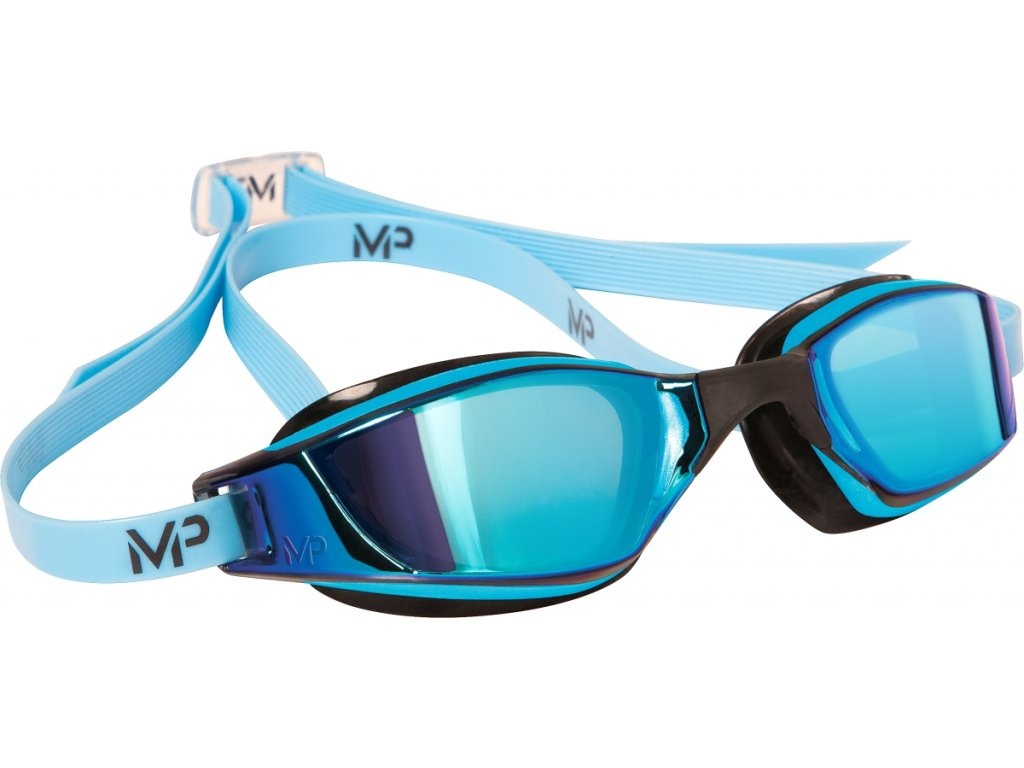 Michael Phelps Aqua Sphere XCEED Blue, titanově zrcadlový zorník, modrá/černá