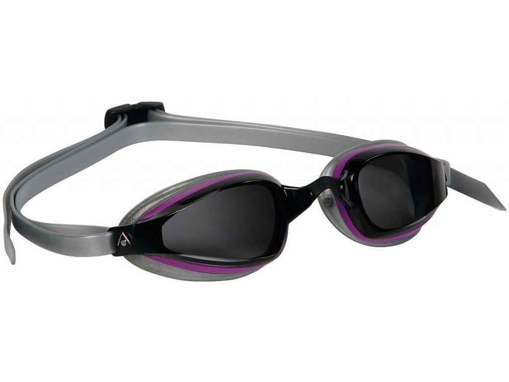 =VÝPRODEJ= Michael Phelps Aqua Sphere plavecké brýle K180+ LADY, tmavý zorník, šedá/fialová