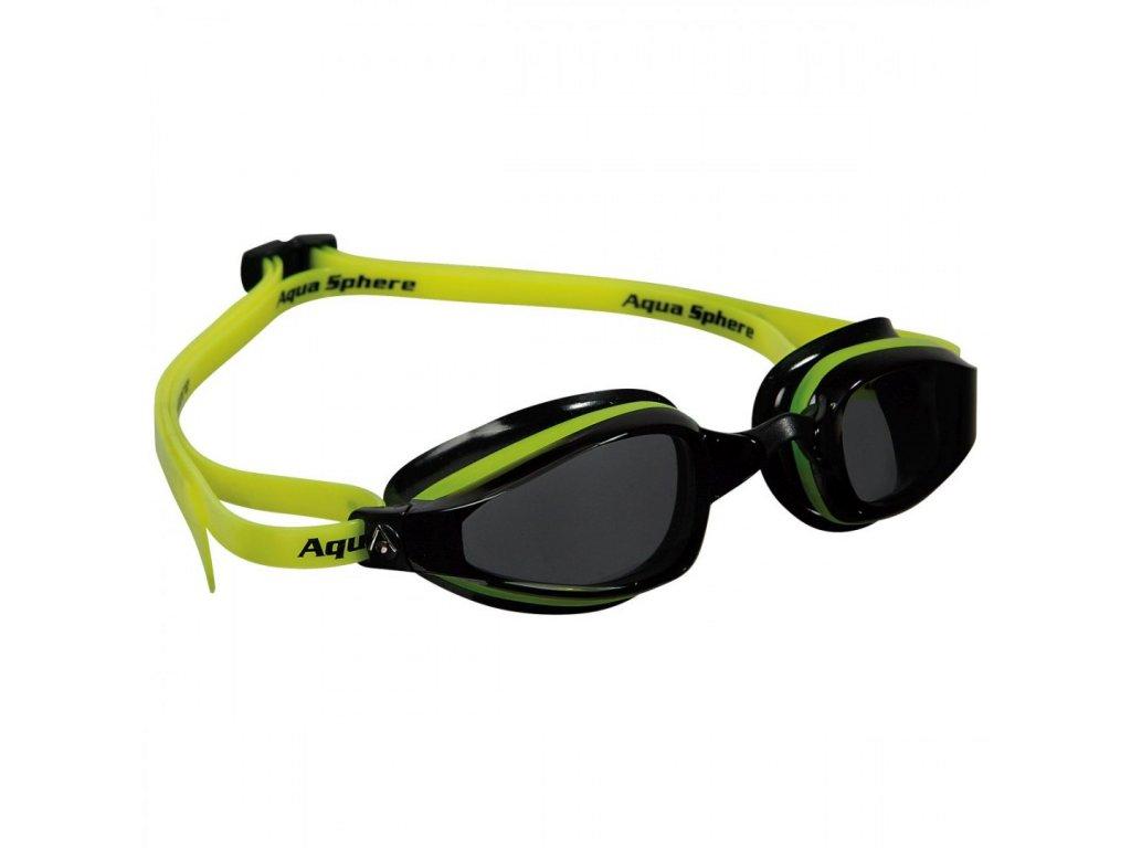 Michael Phelps Aqua Sphere plavecké brýle K180, tmavý zorník, žlutá/černá